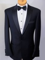Royale - 1 Button Peak Lapel Slim Fit Dinner Suit 100% Superfine Aust Wool.