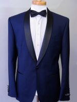 Valentino - Navy Blue Slim Fit Dinner Suit 1 Button Shawl Collar 100% Superfine Wool