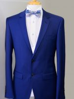 Edward - Cobalt Blue 2 Button Slim Fit 100% Superfine Wool Suit.