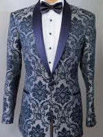 Prince - Tailored Black/Gold Brocade Dinner Jacket - 1 Button Shawl Collar.