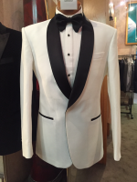 Tailor made ivory dinner suit