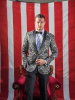 Brocade bespoke / tailor made suit